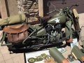 WWII Restored Harley Davidson 1943 Military 42WLA Motorcycle MVPA Gold Vehicle