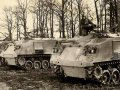 Rare Cold War US personnel carrier Full Track M75, 1950 ties